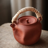 Handmade clay teapot boiling kettle charcoal cook pot hand-rattan electric ceramic heaters bucket clay pots boil water pot