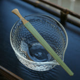 Handmade glass green tea tea utensils