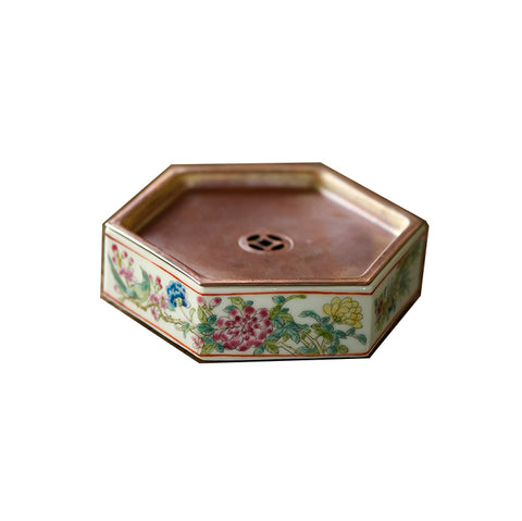 Handmade hand-painted tea tray, copper plates, metal dry foaming tables, ceramic pots mat, tea trays, gaiwan coasters, tea pots coasters small storage water tray