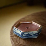 Handmade Hand-painted Tea Tray Copper Plates Metal Dry Foaming Tables Ceramic Pots Mat Gaiwan Coasters Small Storage Water Tray