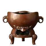 Handmade pure copper charcoal stove small tea furnace copper furnace tea ceremony charcoal tea stove