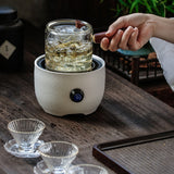 Handmade Solid Wood Boiling Glass Teapot