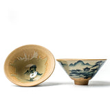 Handmade stoneware tea cup hand-painted cups master cup ceramic cups tea bowls personal cups smelling cups fighting cup