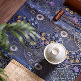 Handmade Brocade Tea Mat Chinese Retro Cotton And Linen Zen Tablecloth Runner Fabric Large Waterproof Tea Table Mat Tea Table Cloth