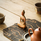 Handmade Wood Kiln Non-phase Small Buddha Statue Decoration Chai Kiln Tea Pet Boutique Tea Play