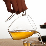Glass Fair Cup Thicken Heat-resistant Kung Fu Tea Set Accessories Tea Leak Set Tea Dispensing Transparent Handle Cup
