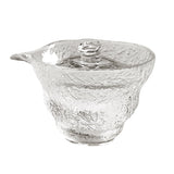 Heat-resistant glass crystal transparent sancai cover bowl