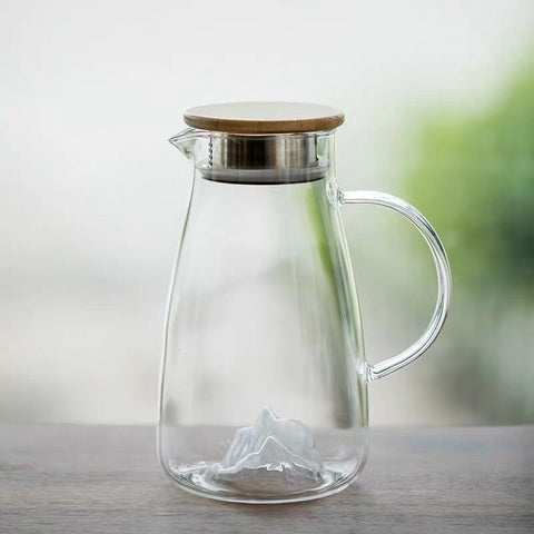 High temperature explosion-proof jug Japanese style creative iceberg glass cold kettle household large capacity kettle juice pot teapot
