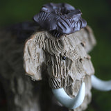 Pastoral Style Tea Pet Ornaments Ice Age Century Stone Squirrel Tea Pet Long Hair Elephant Ornaments