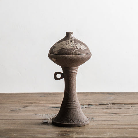 Incense Burner Creative Antique Stoneware Incense Coil Incense Burner Retro Chinese Furniture Tea Ceremony Aromatherapy Burner