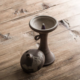 Incense burner creative antique stoneware incense coil incense burner small incense burner retro Chinese furniture tea ceremony aromatherapy incense burner