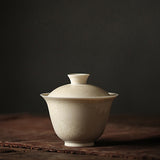 Ceramic Cover Bowl Handmade Sancai Gaiwan Kung Fu Tea Set Vintage Tea Bowl