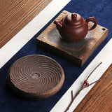 Japanese-style water storage type vintage stoneware tea tray Kung Fu tea set