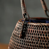 Japanese rattan bag bamboo bag handmade bamboo bag tea set storage box handbags bag tea people tea ceremony Zen portable bag