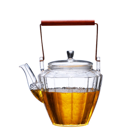 Japanese Style Pot With Loop Handle Teapot Glass Tea Set High Temperature Resistant Thick Heat-resistant Glass Pot Kettle Household Kettle Chrysanthemum Ti Liang Pot