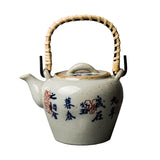 Jingdezhen ceramic teapot Handmade vintage beam pot hand-painted teapot filter small pot Antique Kung Fu tea set