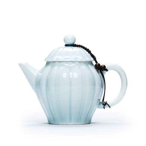 Jingdezhen Ceramic Teapot Shadow Green Glaze Mini Teapot Kungfu Tea Maker