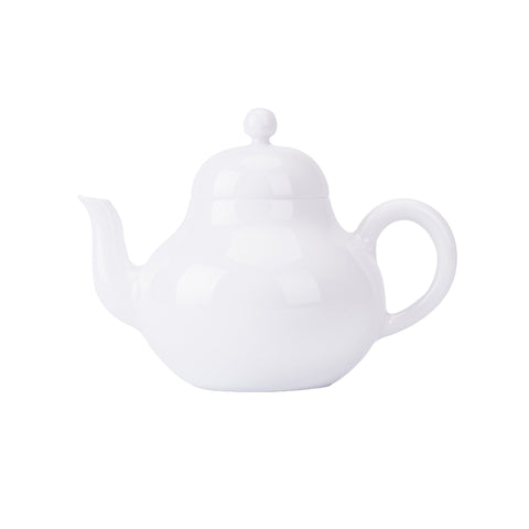 Jingdezhen Sweet White Glaze Junde Pot White Porcelain Ceramic Teapot Exquisite Filter