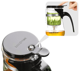KAMJOVE 20.3 Ounce Glass Tea Pot with 304 Stainless Steel Infuser