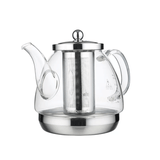 KAMJOVE Glass Tea Pot with Removable Stainless Steel Infuser