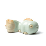 Kung Fu tea set tea ceremony ceramic tea pet ornaments ru kiln enamel doll fish tea pet tea play