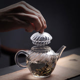Kungfu tea set heat-resistant glass teapot Home office small capacity with filter teapot flower teapot