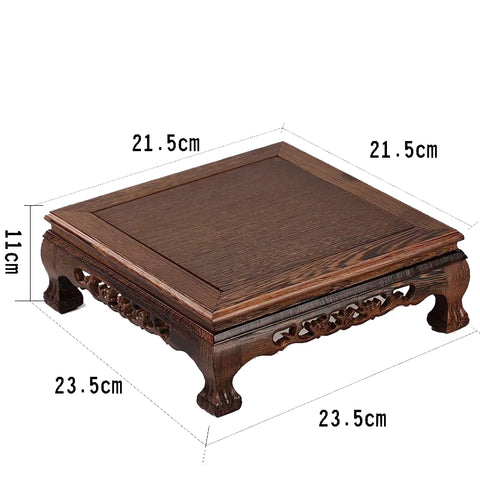 Mahogany Furniture Chicken Wing Wood Chinese Square Table Small Tea Table Bay Window Tables