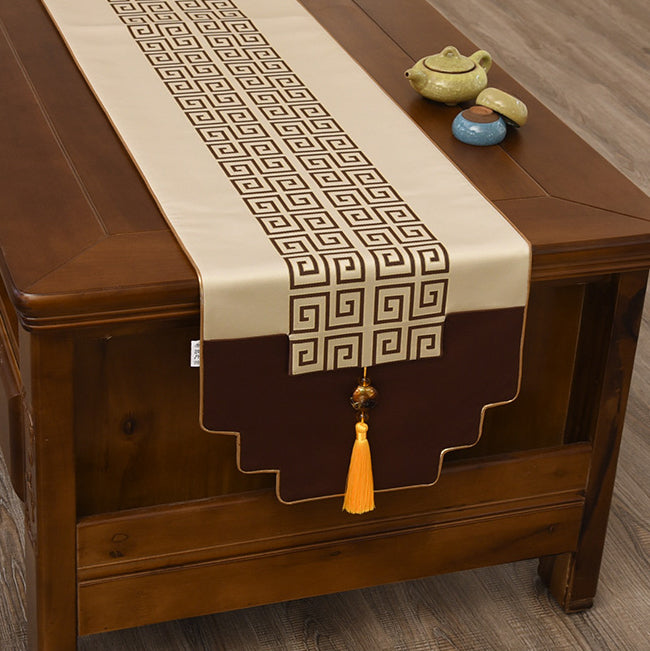 Modern New Chinese Style Table Flag Zen Classical Coffee Table Cover Cloth Tea Table Tablecloth Chaxi Cultural Heritage All About Health And Love Real Chinese Tea