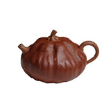 Pumpkin literati bionic melon fruit teapot Yixing section mud handmade purple sand teapot