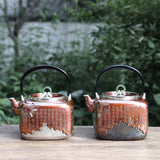 Pure Hand-made Silver Pot Sterling Silver 999 Kettle Copper-clad Silver Kettle Sterling Silver Teapot Household