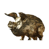 Pure copper solid lucky gold pig tea pet