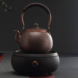 Pure manual hammer copper teapot kettle Kung Fu tea set home electric ceramic stove set