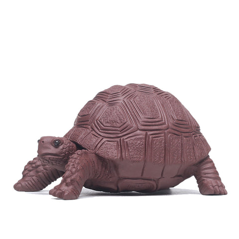 Purple sand tea pet hand made turtle ornaments boutique tea ceremony accessories small toy tea tray ornaments