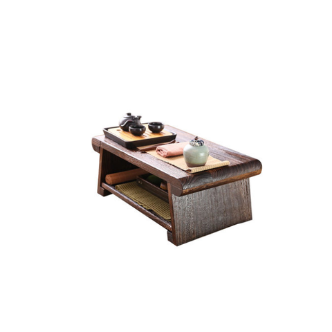Foldable solid wood table tea table