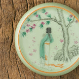 Ru Kiln Hand-painted Cover Mat Jingdezhen Handmade Ceramic Cover Stand Accessories Ornaments