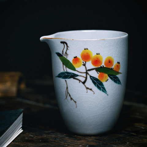 Ru kiln hand-painted fair cup tea sea points tea cup