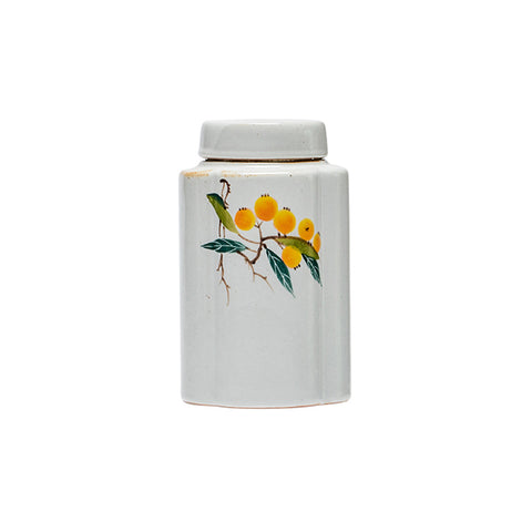 Ru kiln hand-painted tea cans handmade ceramic sealed storage tank Kung Fu tea Pu'er tea caddy tea set tea jar