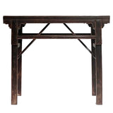Selection of traditional Republic of China handicraft furniture folding storage tea table mortise and tenon structure school desk portable tea table calligraphy table high foot table low foot table