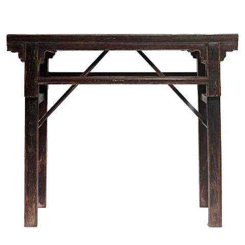 Selection Traditional Republic Of China Handicraft Furniture Folding Storage Tea Table Mortise Tenon Structure School Desk Portable Tea Table Calligraphy Table High Foot Table Low Foot Table