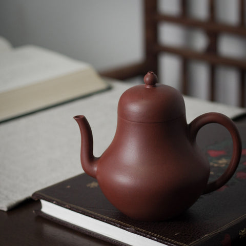Si Ting Purple Mud Pear Shaped Teapot Yixing Ore Handmade Teapot Tea Set
