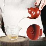 Yixing Zisha Pot Original Mine Zhuni Dahongpao Famous Hand-made Si Ting Pot