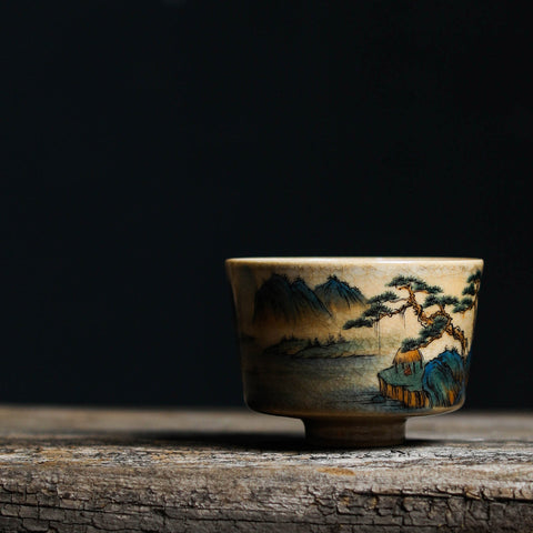 Sit And Watch Yunqishi Kiln Transmutation Master Cup Hand-painted Single-cup Personal Teacup Jingdezhen Tea Set