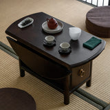 Solid Sood Tea Table Tatami Small Coffee Table Mobile Small Round Table Desk Tour Portable Table Foldable Travel Tea Table Small Table Tea Art