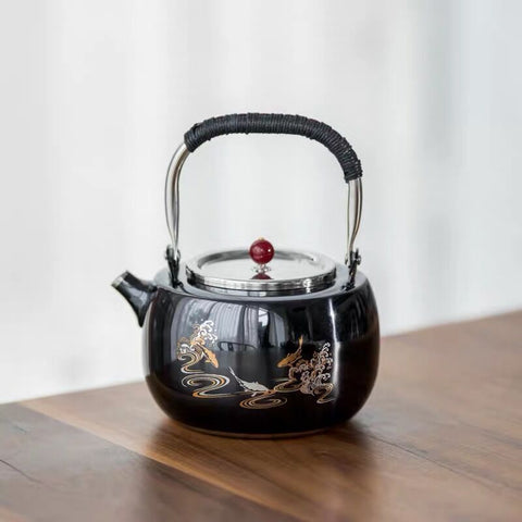 Stainless steel kettle, stainless steel electric ceramic stove, tea maker, tea stove, home kettle, teapot, warm tea stove