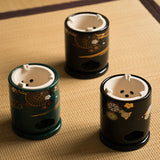 Tang Dynasty Style Hand Painted Ceramic Retro Tea Brewing Stove Small-sized Tea-making Stove Charcoal Stove