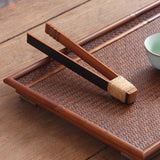 Tea clip bamboo clip bamboo Japanese retro tea set tea ceremony accessories Kung Fu tea cup holder clip