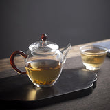 Thick Heat-resistant Glass Teapot Handmade Flower Pot Kung Fu Tea Set