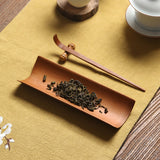 Three sets of bamboo tea ceremony tea needle tea spoon tea ze