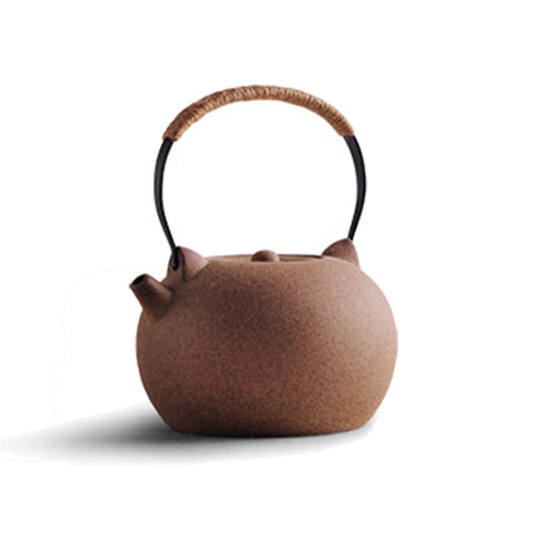 Tiliang Handmade Ore Rock Mud Coarse Pottery Kettle