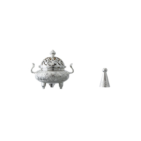 Tin Incense Burner Ornament Zen Incense Decoration Household Indoor Small Antique Tower Incense Sandalwood Burner